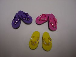 flip flops whith rhinestones  sf44j   15 00 dollhouse