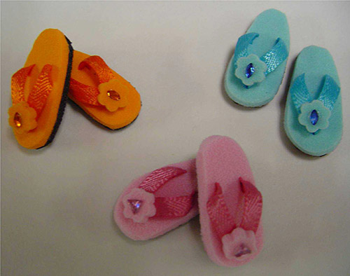 Flip Flops With Flower Sf44e 15 00 Dollhouse Miniatures By