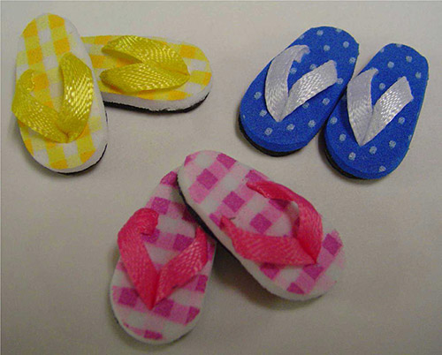 Flip Flops With Patterns Sf44 Pattern 15 00 Dollhouse